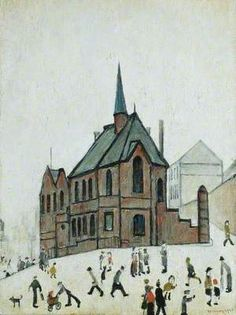 Old Chapel, Newcastle upon Tyne: Laurence Stephen Lowry British, English. View all 215 artworks. Salford, Watercolor Landscape, Watercolor Art, Art Eras, English Artists, British Artists, Nostalgic Art, British Schools, Painting People