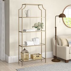 Buchanan Etagere Bookcase Options nice It is possible to easily make you have nightstand by utilizing stool from IKEA and small drawer. Bookcases and shelves are available in all shapes and. White Shelves, Metal Shelves, Corner Shelves, Glass Shelves, Shelving, Gold Etagere, Etagere Bookcase, Ladder Bookcase, Bookcases