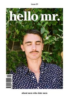 hello mr. magazine cover design
