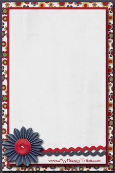 إطارات للكتابة جاهزة للإستعمال براويز لتصميمات الفوتوشوب إطارات للاطفال أ Floral Wallpaper Scrapbook Borders Frame