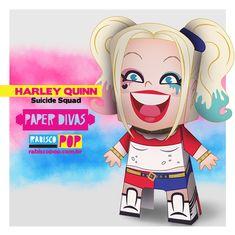 Arlequina de papel <3 | Rabisco Pop