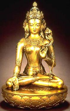 Sitatara (WHITE TARA, M: AGHAN DARA EKE) Zanabazar (1635-1723) Late 17th-early 18th century Gilt bronze H:27 1/8 in. (69.9 cm) Diam:17 5/8 i...