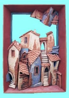 Yavor Gonev Art: Old Bulgarian Houses Clay Houses, Ceramic Houses, Paper Houses, Miniature Houses, Pictures On String, Cartoon House, Pottery Houses, Magic House, Driftwood Sculpture