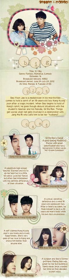 Korean Drama - Big  This one is really fantastic!  (It's right up there with Boys Over Flowers & Coffee Prince). ^_^