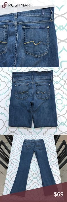 """💙👖AWESOME 7FAM BOOTCUT JEANS👖💙32 13/14 32"""" EUC 💙👖DESIGNER JEANS!👖💙👖PREMIUM DENIM!👖💙 Thanks for stopping by!!! Please Study Photos Very Carefully!!! ZOOM IN on Hems Pockets & Seat!!! SEE Detail Color & Condition!! SEE NOTECARD for INFORMATION!!! Notecard answers many of your questions!!! MEASUREMENTS ON NOTECARD!!!#Hashtags: Anthro Anthropologie Buckle Dojo 7 All Mankind Citizens Humanity Miss Me True Religion Rock Revival AG Hudson BKE J Brand Paige Madewell Crew Dark Wash Skinny…"""