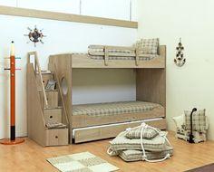 """Κουκέτα """"Ιόνιο Νο3"""" Bunk Beds, Kids Bedroom, Sweet Home, Loft, Indoor, Storage, Furniture, Design, Home Decor"""