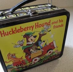 Huckleberry Hound cartoon, lunches, huckleberri hound, vintag lunch, retro, childhood, 1961 lunchbox, friend lunch, vintage lunch boxes