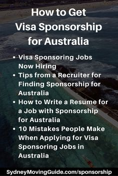 Moving to Australia Tips | Expat Life | Living Abroad | Moving Overseas |  Are you looking for a job that offers visa sponsorship for Australia? Here is everything you need to know to secure sponsorship for Australia.