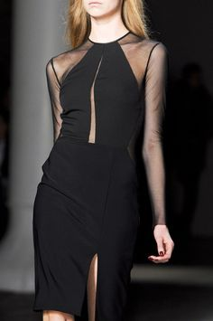Yigal Azrouel, Fall 2013.  Black Dress #2dayslook  #watsonlucy723 #BlackDress   www.2dayslook.com