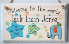 Personalised New Baby Signs http://www.gemmajanedesigns.co.uk