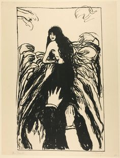 """Edvard Munch's """"The Hands"""", 1895. Art Institute of Chicago permanent collection"""