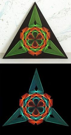 Wall D cor and Tatouage 75575: String Art Triangle Sacred Geometry Psychedelic Wall Decor Mandala 3D Uv Light -> BUY IT NOW ONLY: $149 on eBay!
