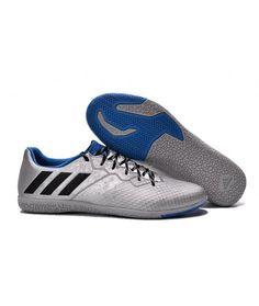 reputable site 26ff2 567b1 Adidas Messi 16.3 IC INDENDØRS BANE fodboldstøvler sølv blå sort. Botas,  Azul ...