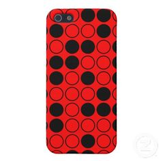 Black and Red Polka Dots Pattern iPhone 5 Cases Cool Iphone Cases, Iphone Case Covers, Create Your Own, Polka Dots, Cool Stuff, Red, Pattern, Black, Design