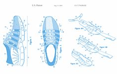 Nike flyknit patent application. Nike has lots of interesting sneaker patents