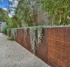 modern corten steel retaining wall ideas: