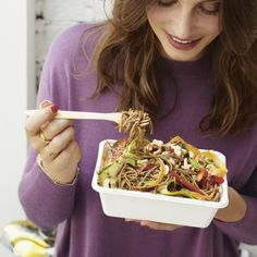 Delicious pad Thai will keep you from reaching for the takeaway menu - carrots and courgettes replace most of the noodles and the sauce is so fragrant. Veg Recipes, Whole Food Recipes, Cooking Recipes, Healthy Recipes, Dinner Recipes, Healthy Eats, Recipies, Healthy Pizza, Healthy Shakes