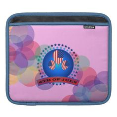 4TH Of July ipad Sleeves Horizontal Pink