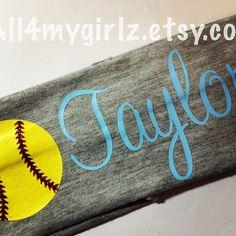 Personalized Softball Stretch Headband Monogram Baseball Cheer Soccer...  ( 7.50) ❤ liked 7ee063fab42