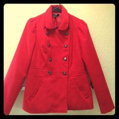 Red Forever 21 Coat Red Forever 21 coat. Size medium. Pea Coat. Forever 21 Jackets & Coats Pea Coats