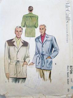 McCalls 8706 Men's Sports Jacket Chest 40