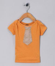 Orange Tie Organic Tee - Infant  by zebi (on zulily)