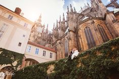 prague castle wedding shooting - Amazing background of St. Vitus Cathedral and gorgeous couple having a pre-wedding photo shooting in Prague. Prague Photography, Couple Photography, Wedding Photography, Wedding Photoshoot, Wedding Shoot, Boho Wedding, Photo Art Studio, Prague Photos, Prague Castle