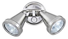 Secura Double Floodlight in Satin Chrome