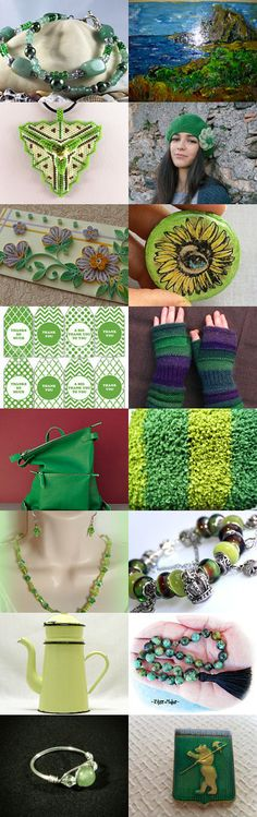 The beauty of green for Spring! by Liz Garcia on Etsy--Pinned+with+TreasuryPin.com
