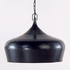 Black Iron Bell Pendant   World Market