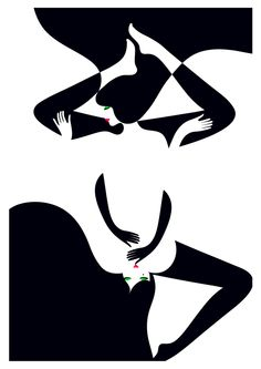 Amazing Illustrations by Malika Favre Malika Fabre, Tachisme, Graphic Art, Graphic Design, Lesbian Art, Illustration Art, Illustrations, Art Graphique, Oeuvre D'art