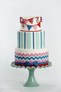 Gorgeous Cake - chevron, flags and stripes