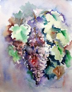 LAURA CLIMENT : VENDIMIA Gardens, Painting, Jewelry, Art, To Tell, September, Watercolors, Activities, Jewlery