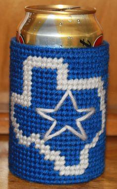 16006i Dallas Cowboys Koozie by CraftsbyRandC on Etsy, $3.95