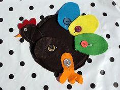 Montessori button chicken