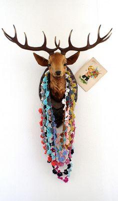 crochet garland by Ingthings, via Flickr - @Jennifer Milsaps L Ross - inspiration overload