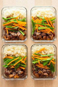 I'll say it time and time again. The secret to sticking to a healthy diet is meal planning. Today I've got Vietnamese Chicken Meal Prep Bowls for you to sweeten up your week :) Sweet sticky chicken, rice and veggies!