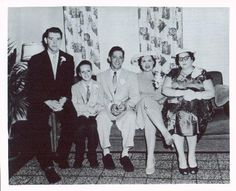 Patsy Cline and Charlie Dick on their wedding day, with Charlie's family.