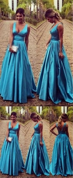 Elegant simple prom dress, satin long prom dress, cheap evening dress, off shoulder v-neck prom dress, inexpensive sexy backless prom dress,PD190411