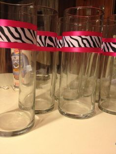 ZEBRA PINK AND WHITE DESERT IDEAS | ... black centerpieces diy pink reception ribbon white zebra Centerpieces