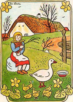 Josef Lada. A Czech Rural Scene. Undated
