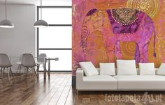 Indian wallpaper with elephant by Fototapeta4u.pl