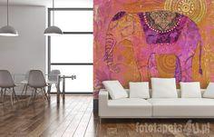 Indian wallpaper with elephant by Fototapeta4u.pl
