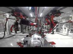 Tesla gives rare glimpse inside its Model X robo-factory - YouTube