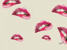 Www.marlowebandem.com // Lip fractals. #lips #art #collages #background #artideas #cute #artideas #ideas #illustrations #digital #computers
