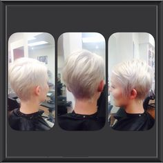 Short ladies style cut by AmberD @ subehair