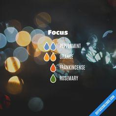 Focus - Essential Oil Diffuser Blend