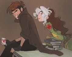 Gambit and Rogue ;) #gambit #rogue #xmenweek #xmen #rogueandgambit #love #marvel