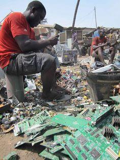 Sorting E-Waste. Photo by: David Fedele.