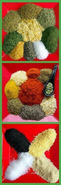 """3 Spice Mixes I Cannot Live Without... There is a formula for a """"Better"""" Version of Herbes de Provence... A CAJUN Spicy mix  (and unlike the store bought, low salt)... And I LOVE the Sesame Seed/Garlic Flake/Sea Salt blend that is my real FAVORITE!  Plus tips on how to mix your own CHEAP, EASY USEFUL DIY Project"""